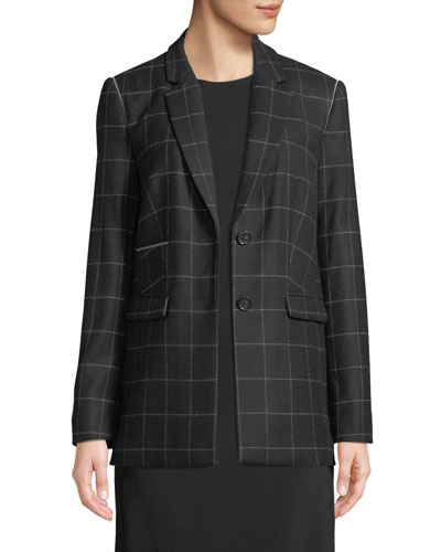Caprice Slim Windowpane Blazer