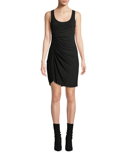 Lelah Gathered Viscose Tank Dress