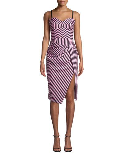 Alice Sleeveless Striped Shirting Dress