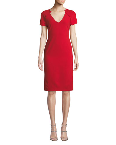Latisha Piped Fitted Dress