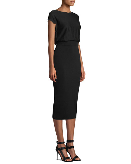 Shara Twisted-Back Blouson Dress
