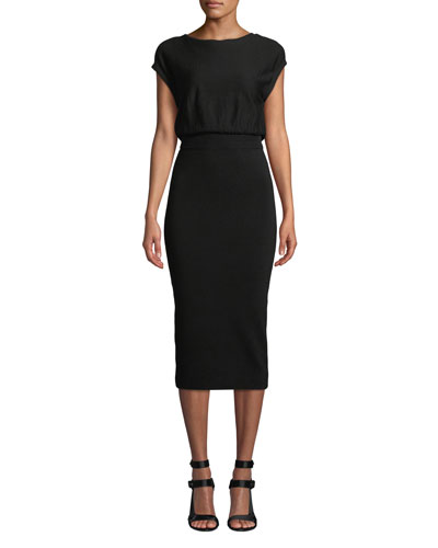 Shara Twisted-Back Blouson Dress
