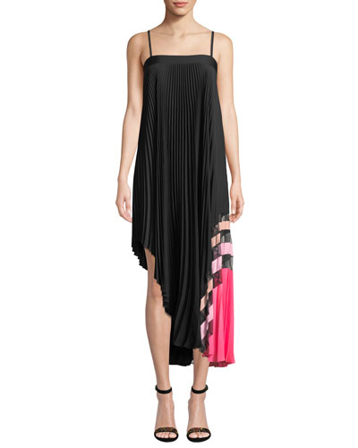 Irene Stretch Silk Pleated Dress