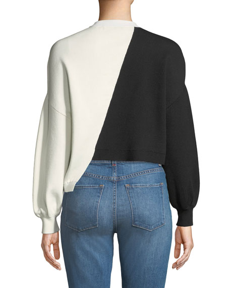 Elyse Cropped Asymmetrical Pullover