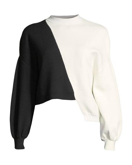 Elyse Cropped Asymmetrical Pullover