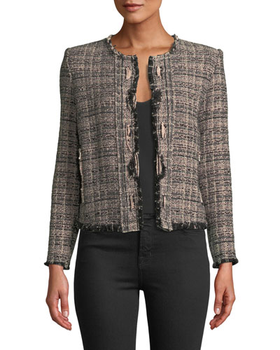 Jocund Collarless Tweed Jacket
