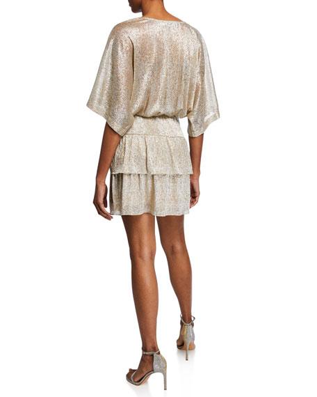 Tiered-Ruffle Mini Dress