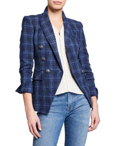 Miller Plaid Wool Blend Dickey Jacket by Veronica Beard