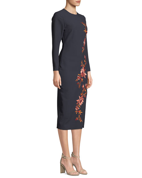 Lexi Embroidered Floral Cocktail Dress