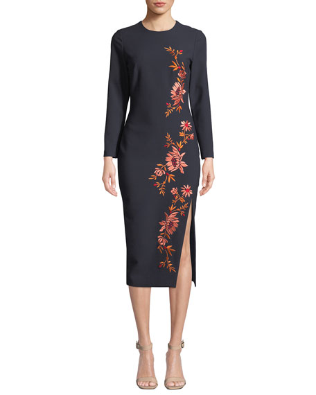 cinq a sept Lexi Embroidered Floral Cocktail Dress