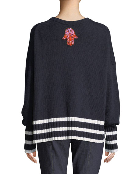 Leona Embroidered Graphic Pullover Sweater