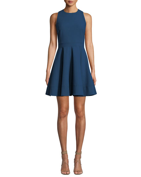 Cinq À Sept ARACELI SCOOP-NECK SLEEVELESS SHORT DRESS