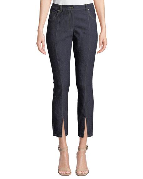 cinq a sept Rosa Mid-Rise Split Straight-Leg Pants