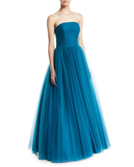 Badgley Mischka Collection Strapless Tulle Ball Gown