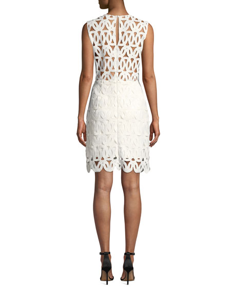 Sienna Embroidered Scallop Lace Dress