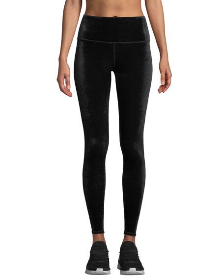 7901598e13e5b Alo Yoga Posh High-Waist Velour Leggings