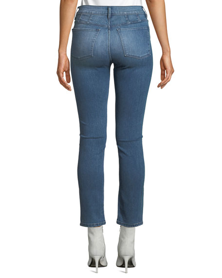 Jesse High-Rise Straight-Leg Ankle Jeans