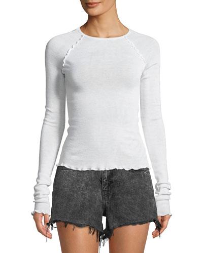 Wash And Go Knit Long-Sleeve Raglan Top