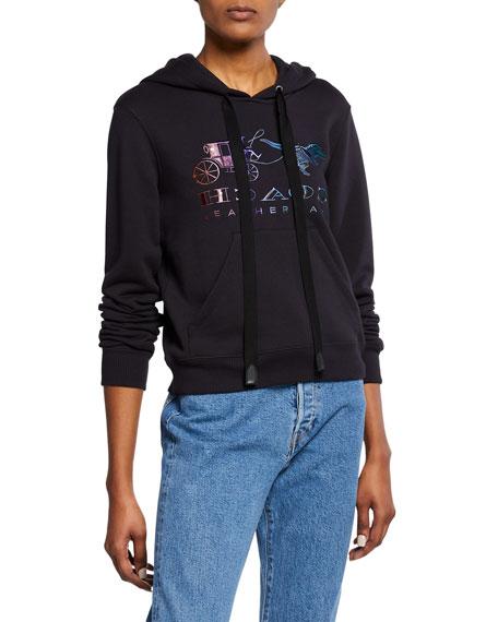 Coach Mirrored Rexy And Carriage Satin-Stitch Logo Sweatshirt