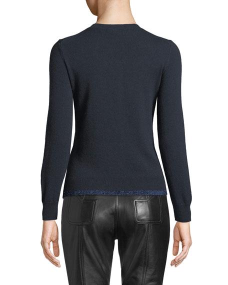 Rexy Patch Metallic Wool-Cashmere Sweater