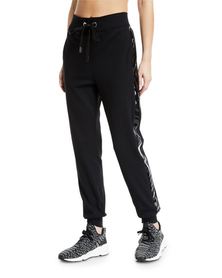 No Ka'oi KANA DRAWSTRING JOGGER TRACK PANTS WITH RACER STRIPES