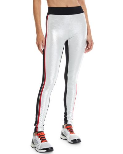 Kipi Metallic Racer Stripe Leggings