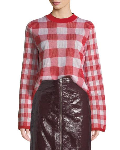 McQ Alexander McQueen Checkerboard Crewneck Pullover Sweater