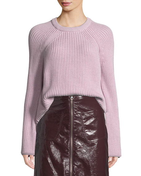 McQ Alexander McQueen Ribbed Lace-Up Pullover Sweater