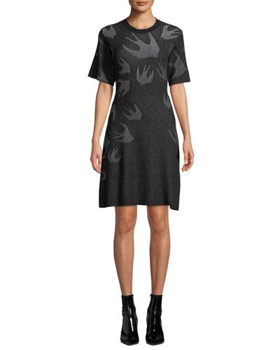 Swallow Pointelle Sweater Dress