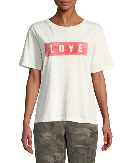 Amo Denim LOVE CREWNECK BOYFRIEND TEE