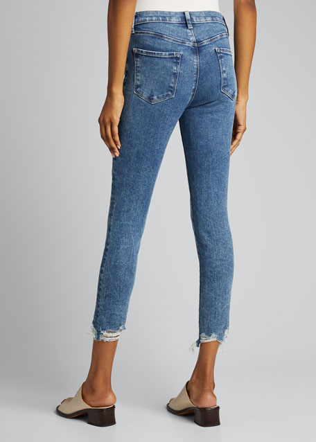 Alana High-Rise Crop Skinny Jeans with Destroyed Hem