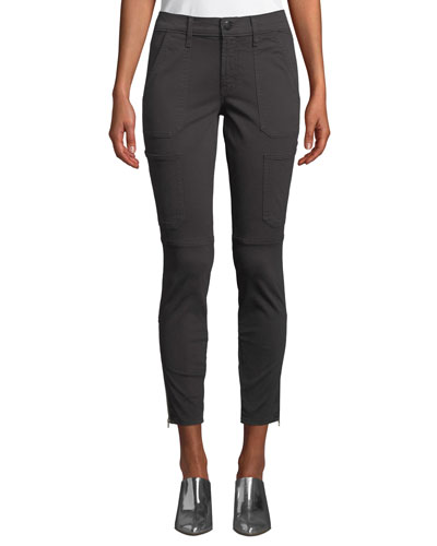 Skinny Mid-Rise Ankle Utility Pants