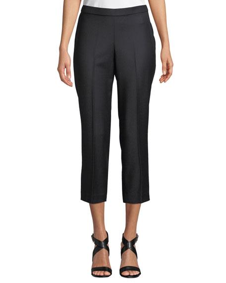 Basic Pull-On Sleek Flannel Pants