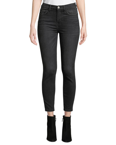 The High Waist Stiletto Jeans with Embellishments