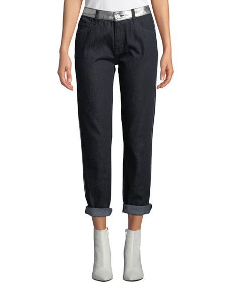 Current/Elliott The Fling Cropped Straight-Leg Jeans with