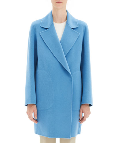 Luxe Wool-Cashmere Long Coat