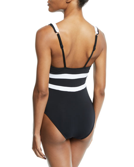 Classique Plunging One-Piece Swimsuit