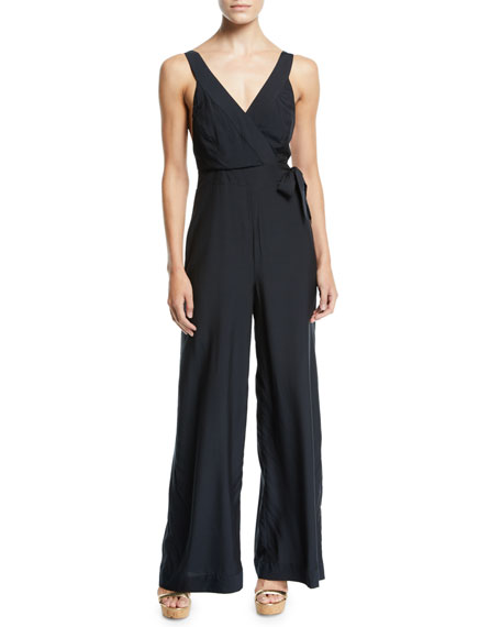 Jets By Jessika Allen JESS GOMES SLEEVELESS COVERUP JUMPSUIT