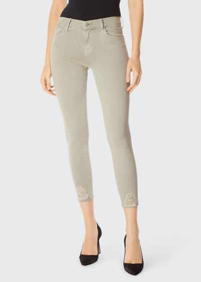 835 Mid-Rise Coated Cropped Skinny Jeans