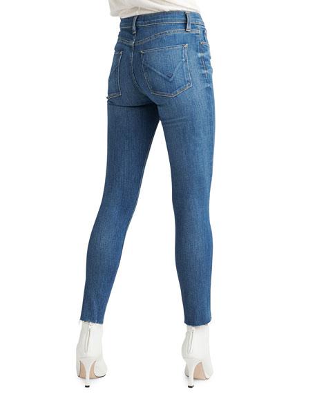 Nico Mid-Rise Raw-Hem Ankle Skinny Jeans