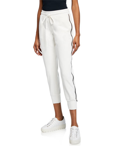 Augustine Drawstring Jogger Pants with Side Zippers