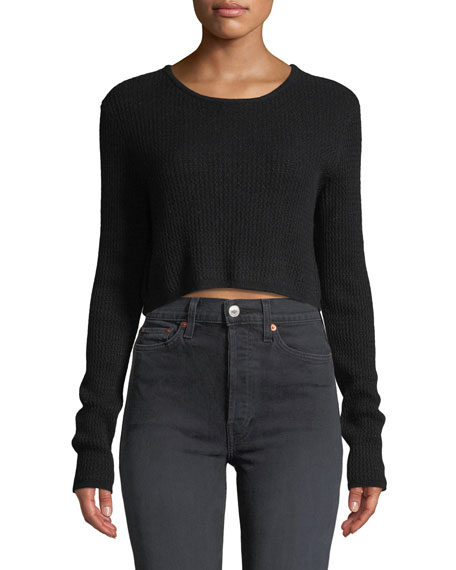Sablyn RILEY CROPPED CASHMERE PULLOVER SWEATER