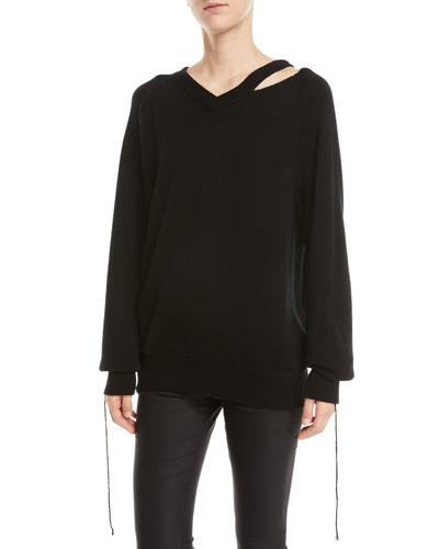 Slash V-Neck Sweater