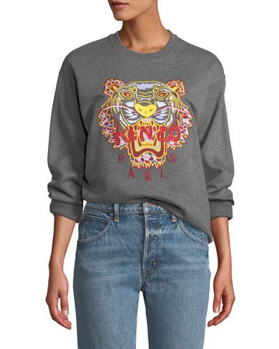 Dragon Tiger Logo Crewneck Pullover Sweatshirt