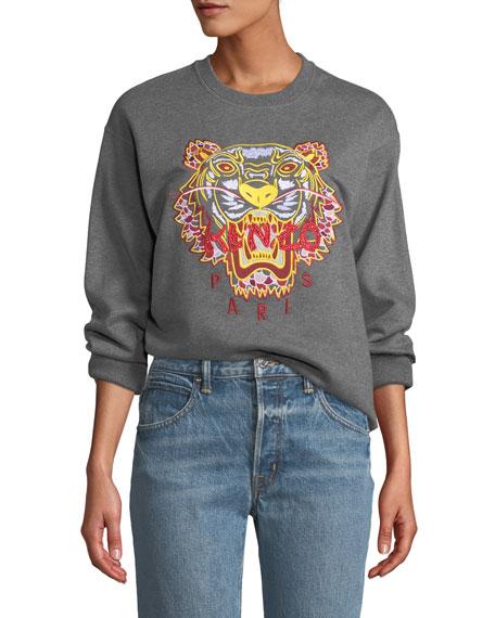 f5432e5e Kenzo Dragon Tiger Logo Crewneck Pullover Sweatshirt
