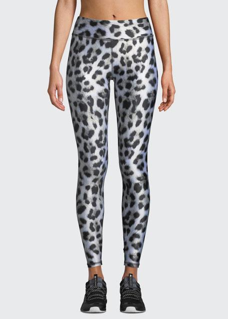 Leopard-Print Tall Band Performance Leggings