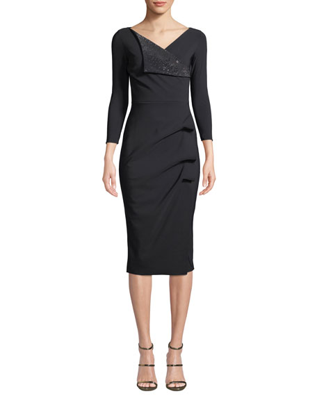 Chiara Boni La Petite Robe Nelida Asymmetric-Ruched Dress