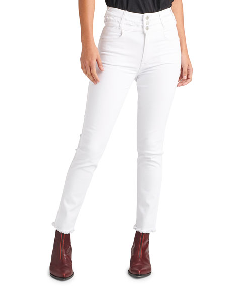 Hudson HOLLY HIGH-RISE CROP SKINNY JEANS WITH STACKED WAISTBAND