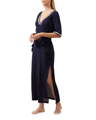 Carlisle Bay Lace-Trim Coverup Maxi Dress