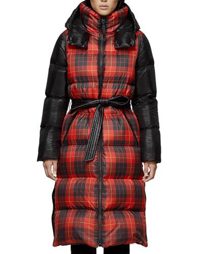 Haiko Buffalo Plaid Long Puffer Coat